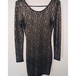 Black & Gold BodyCon Sequin Dress